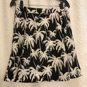 Vince Camuto Palm Tree Leaves Skirt
